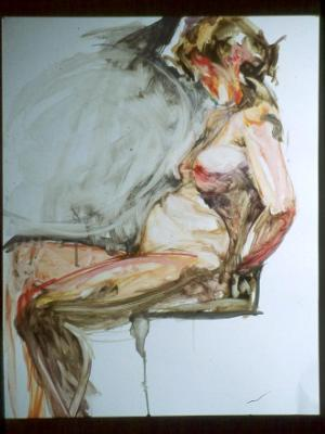 NUDE OIL ON PAPER