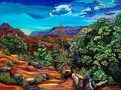 Slice of the Salt River -30x40  original acrylic on gallery wrap canvas $2800.00