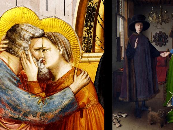 Giotto and van Eyck paintings