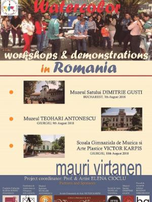 Watercolor Demonstrations and Workshops in Romania, August.2018