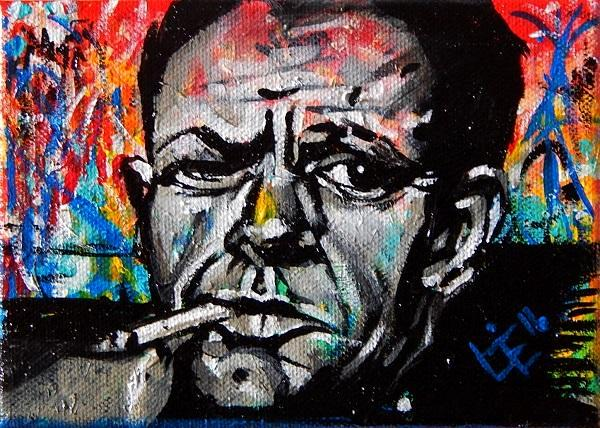 4th mini painting in Artist series done - Jackson Pollock