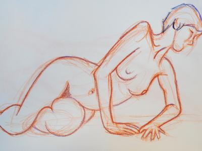 Raquel, Reclining Nude on Her Side