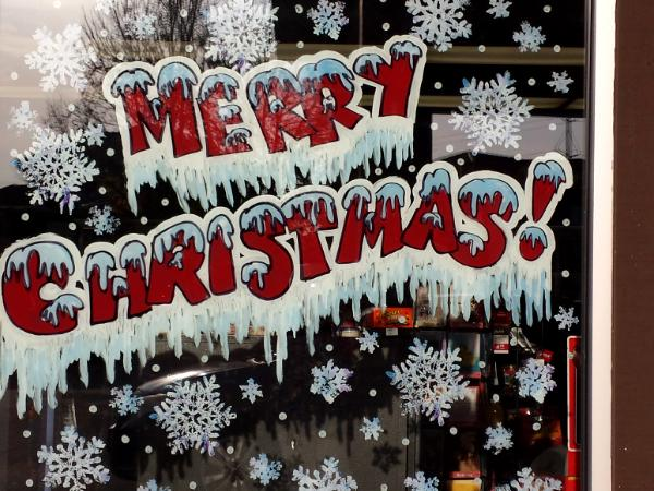 Merry Christmas with Icicles