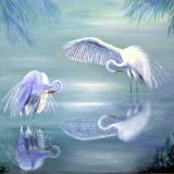 Egrets by Moonlight