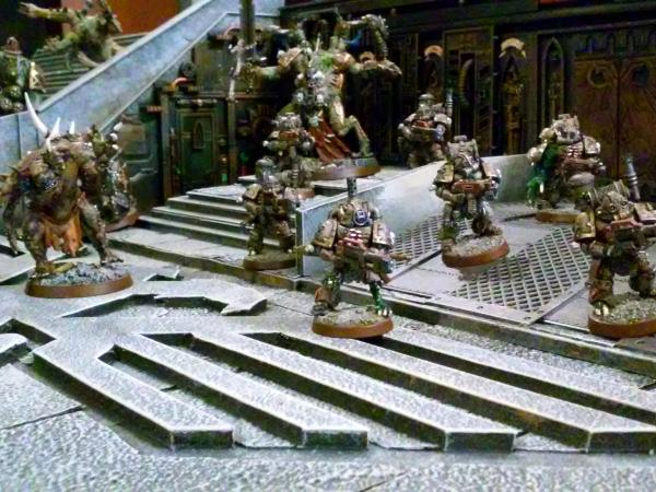 Nurgle's attack at the cathedral