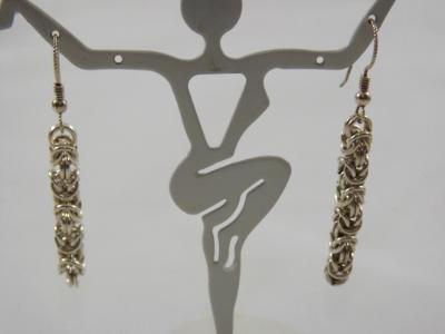 E-58 Sterling Chain Earrings