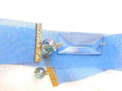 woven textured crystal bookmark