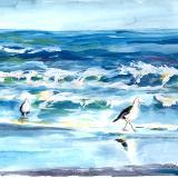 Beach with Gulls #1