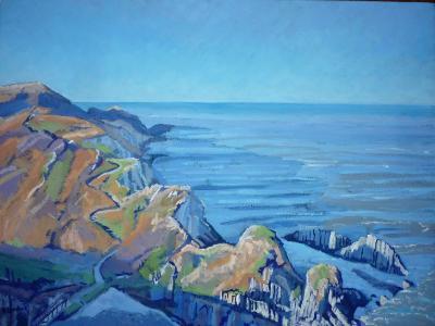 On the coastpath, Rockham Bay