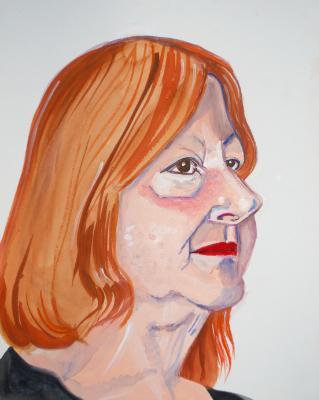 Barbara, Gouache Portrait