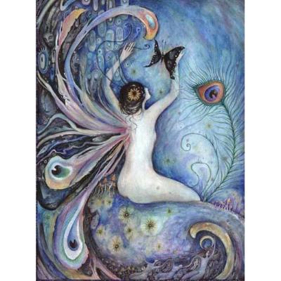 Sylph Fairy Original Fantasy Painting in Watercolor