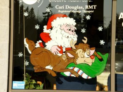 Santa giving deer massage