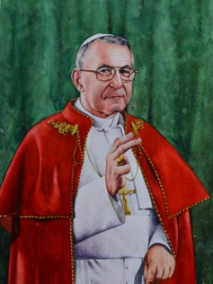 Portrait of Pope JOHN PAUL I, 80cm x 60cm, 2014