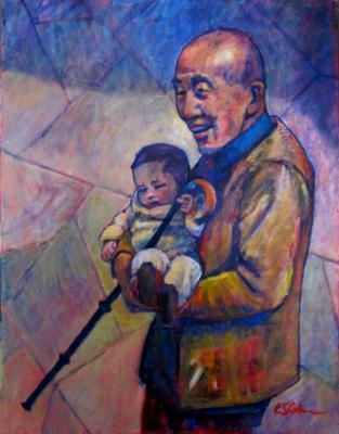 Grandpa and Baby-China