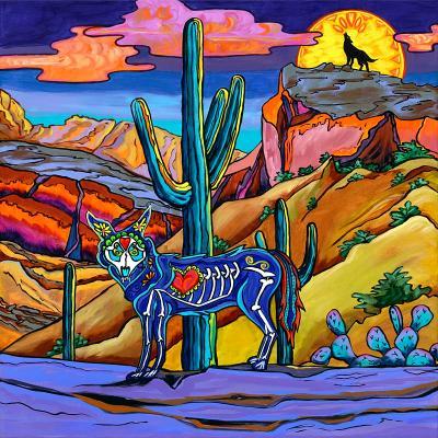 Dia de los Muertos-Coyote Moon - $985.00
