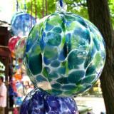 Sunshine captured in glass ornaments