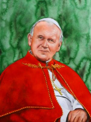 Portrait of Pope JOHN PAUL II, 80cm x 60cm, 2104