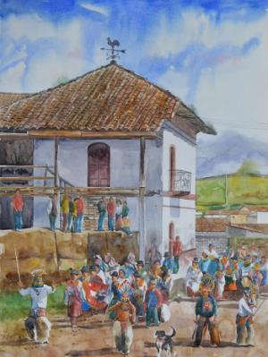 San Pedro festivities, 76cm x 56cm, 2015