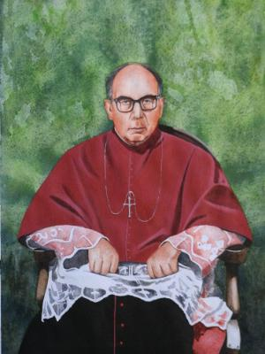 Portrait of Bishop FRANCISCO YANEZ, 80cm x 60cm, 2014