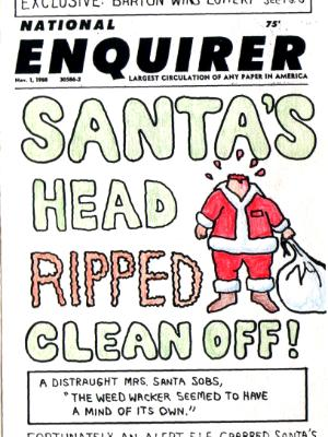 Santa Has an Accident- Front