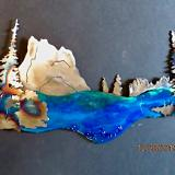 Landscapes with Resin & special paining techniques
