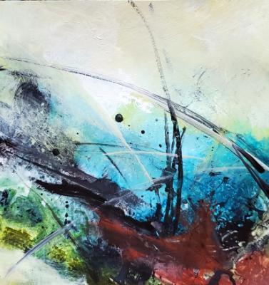 Acrylic Abstract Mixed Media Study on Paper