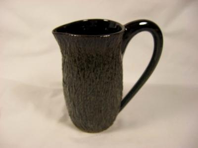 110615.S Pitcher with Tree Bark Texture