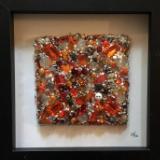 Untitled Orange Square - Framed