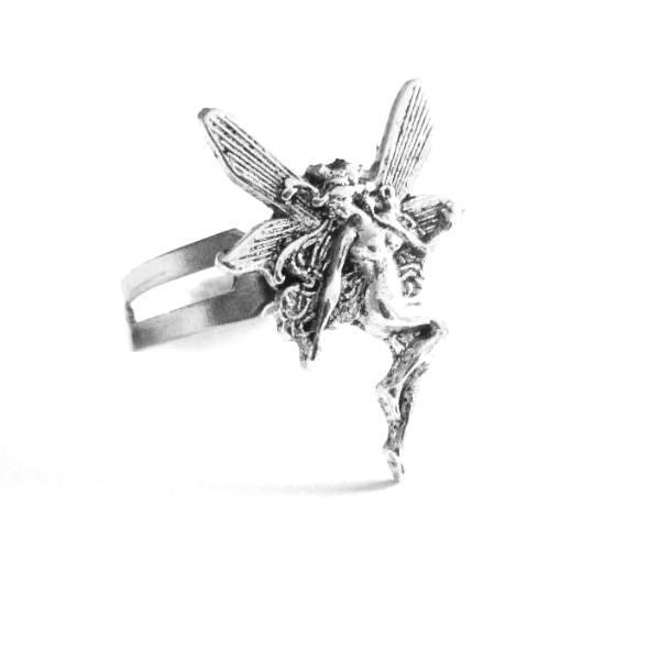 Fairy ring adjustable size fairy art nouveau jewelry ring faery lover gift