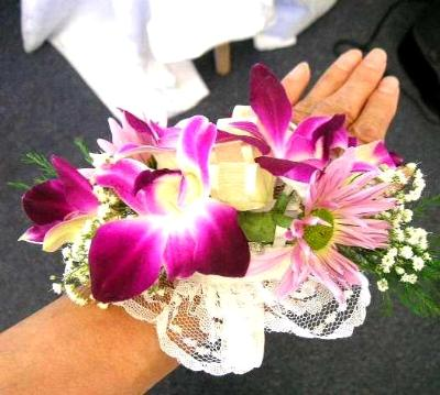Bridal corsage or Wrist Band for wedding & prom