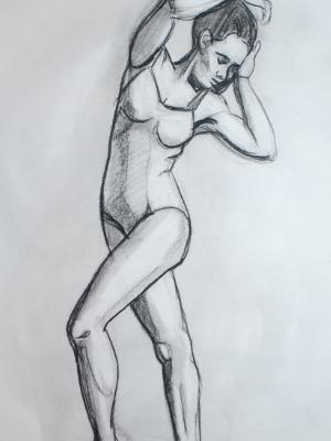 Standing Swimsuit Model