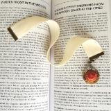 book charm velvet bookmark steampunk