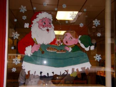 Chopstick Santa and elf