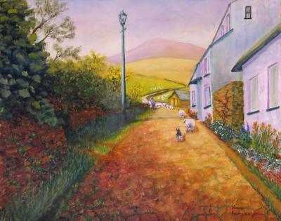 A Steep Cobbled Road