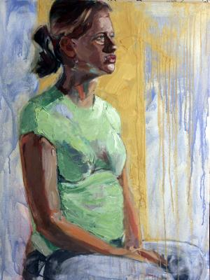 GOLDEN GIRL 24X30 OIL ON CANVAS sold