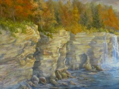 Pictured Rocks, Spray Fallls