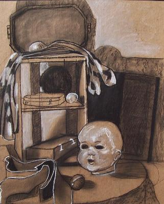 Still Life with Doll's Head