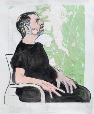 James, Seated Profile