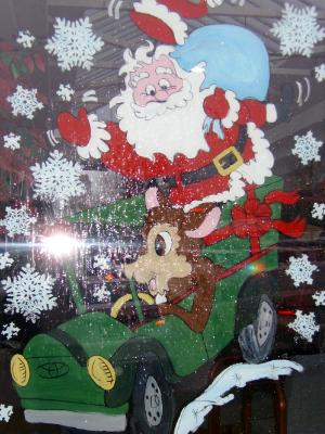 Santa deer truck