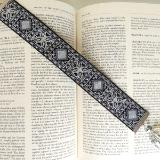 metallic tapestry bookmark crystal