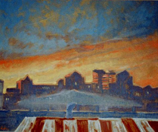Europort, sunset