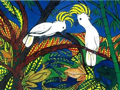Cockatoos of Palau (sold)