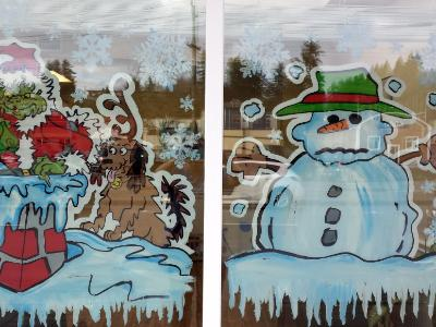 Grinch and snowman