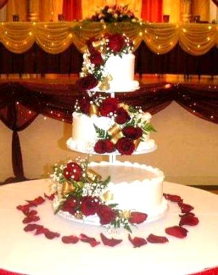 wedding cake at a wedding party