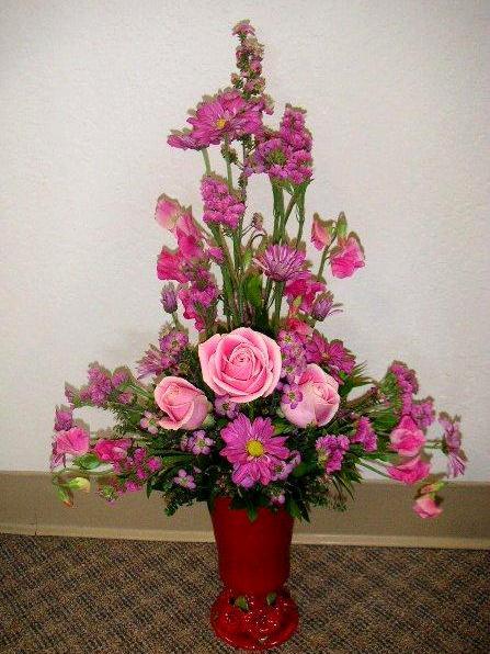Line Drawings Of Flower Arrangements : Church decoration with floral arrangements california