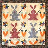 Bunnies with Pinwheels