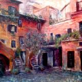 A quiet Roman Courtyard  -  SOLD