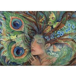"""""""Green Lady"""" fairy greeting card"""