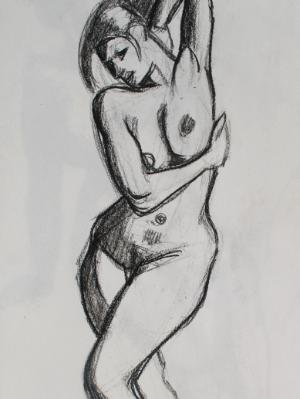 Standing Female Nude, Elbow Up