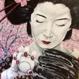 Geisha Considers the Knuckle Ball